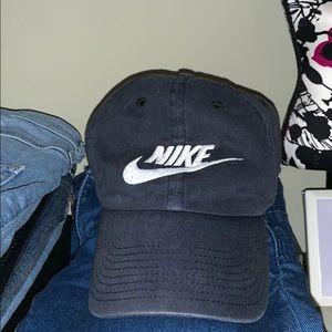 Black And White Nike Logo Dad Cap